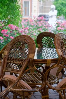 Free Chairs Standing By The Table Stock Photography - 6097192