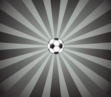 Free Retro Football And Sunburst Stock Images - 6097494