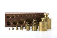 Free Brass Weights Royalty Free Stock Photography - 6098277
