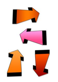Free 3d Arrows Colorful Royalty Free Stock Photo - 6098705