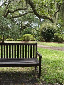 Free Bench At Garden Stock Photos - 6099603