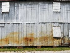 Free Side Of Metal Clad Building. Royalty Free Stock Photography - 6099667