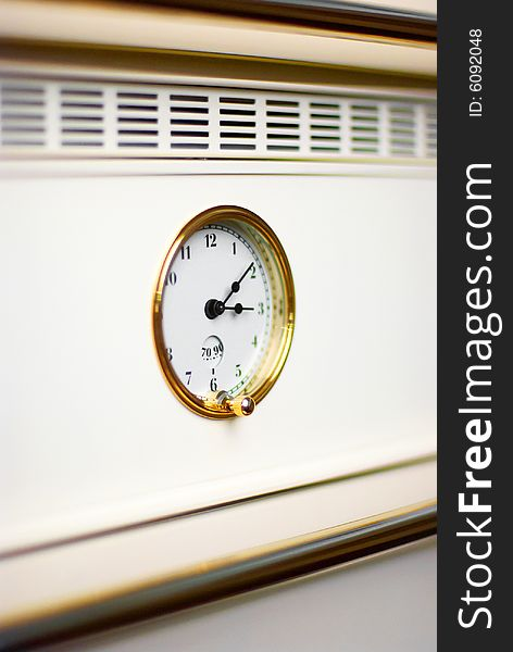 Oven clock in modern kitchen