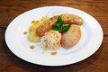 Free Sausages With Vegetables On A Plate Royalty Free Stock Photography - 60936617