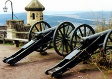 Free Two Old Cannons Royalty Free Stock Images - 610479