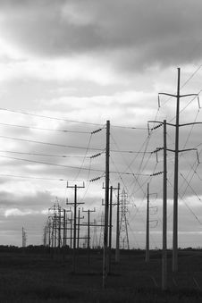 Free Power Lines Royalty Free Stock Photo - 612715