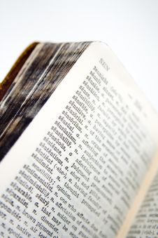 Old Dictionary Series Stock Images