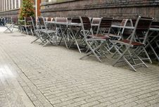 Free European Sidewalk Tables Stock Images - 614624
