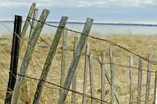 Free Ocean Fence Royalty Free Stock Photography - 614707