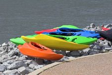 Free Colorful Kayaks Stock Images - 615304
