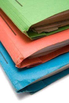 Free Colorful Binders (Top View Close) Stock Image - 615861