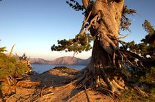 Free Crater Lake Sunset Stock Image - 617401