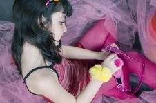 Free Pink Princess Stock Image - 619661