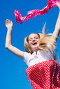 Free Happy Jumping Girl Stock Images - 6104374