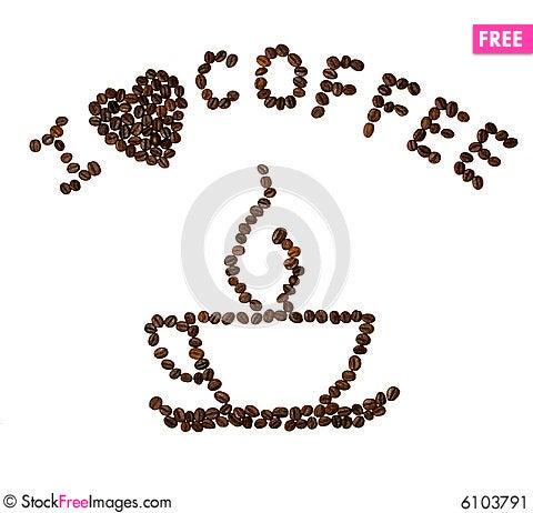 Free I Dark Heart Coffee Stock Image - 6103791