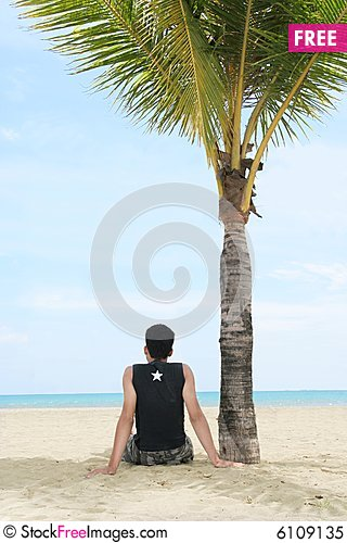 Free Enjoy On Tropical Beach Royalty Free Stock Photo - 6109135