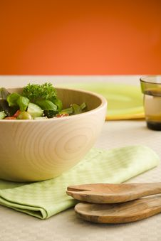Free Side Salad Royalty Free Stock Photography - 6100157