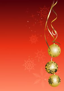Free Christmas Background, 2d Illustration Royalty Free Stock Photos - 6100278