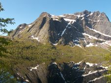 Mirroring In Lofoten S Storvatten Stock Image