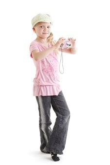 Free Young Girl Photographing Stock Images - 6100714