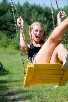 Free The Girl On A Seesaw Royalty Free Stock Image - 6101256