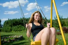 Free The Girl On A Seesaw Royalty Free Stock Images - 6101259