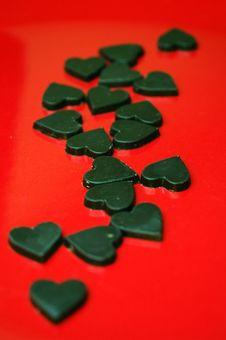 Free Chocolate Hearts Royalty Free Stock Photos - 6101408