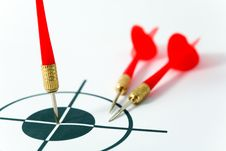 Free Red Darts And Target Stock Image - 6101561