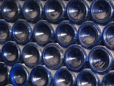 Free Dusty Blue Bottles Royalty Free Stock Photo - 6101635