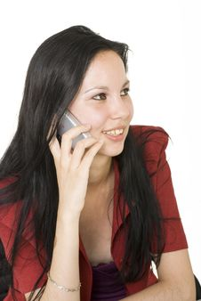 Free Talking On Cell Phone Stock Photos - 6102033