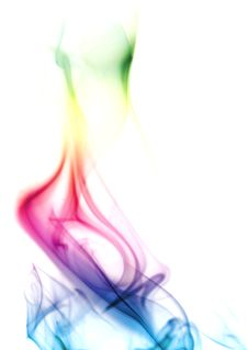 Colorful Rainbow Smoke Stock Photo