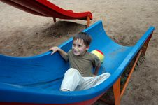 Free Boy On The Pleasure-ground In Park Stock Photo - 6102710