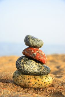 Free Stones On The Seashore Stock Images - 6103404