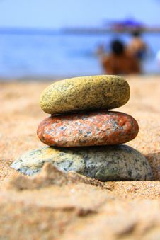 Free Stones On The Seashore Stock Image - 6103451