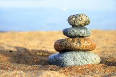 Free Stones On The Seashore Royalty Free Stock Photography - 6103487