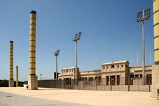 Free Barcelona Olympic Stadium Royalty Free Stock Photo - 6103585