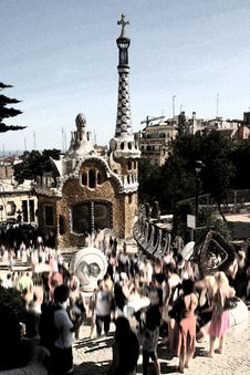 Free Parc Guell, Barcelona Royalty Free Stock Images - 6103799