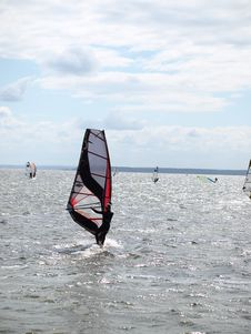 Free Men On Windsurfing Stock Photos - 6103943