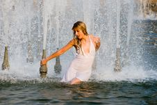 Free In A Fountain Stock Image - 6104081