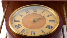 Free Old-fashioned Clock From Below Royalty Free Stock Image - 6104166