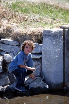 Free Boy Exploring Water Stock Photos - 6104223