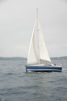 Free Sailboat In South Of France Stock Image - 6104701