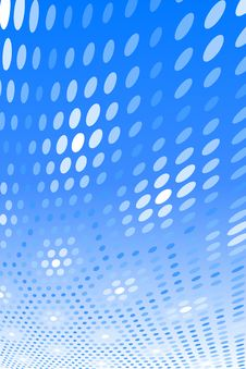 Free Blue Spot Pattern Royalty Free Stock Photo - 6104905