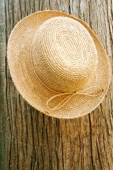Free Straw Hat On Tree Stock Images - 6105034