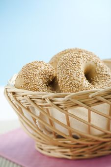 Free Breakfast Bagel Royalty Free Stock Photo - 6105115