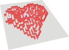 Free Heart Maze Stock Image - 6105641
