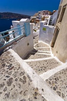 Free Stairs Of Santorini Stock Photos - 6105953
