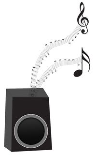 Free Speaker With Music Notes Stock Photo - 6106340