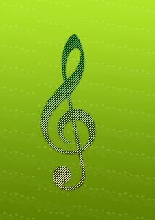 Retro Music Note Stock Photos