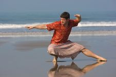 Free East Gymnastic On The Beach Royalty Free Stock Images - 6106489